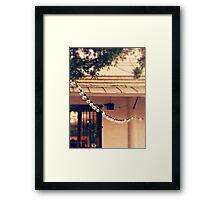 LIGHT STREAM PANTONE PINK Framed Print