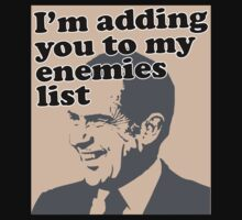 I'm adding you to my enemies list by divebargraphics