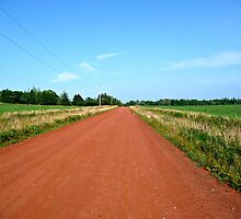 Straight Red Road by Rachel Gagne