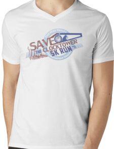 Save the Clocktower 5k Run Mens V-Neck T-Shirt