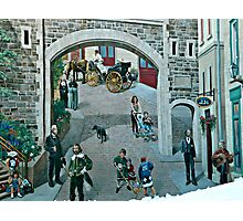 Historic Quebec Mural Photographic Print