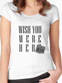 Wish You Were Heroin Women's Fitted Scoop T-Shirt