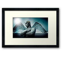 the torment of Icarus Framed Print