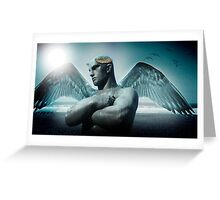 the torment of Icarus Greeting Card