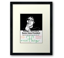 Freddie Hediger Campaign Framed Print