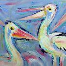Pelicans - Acrylics by Karin Zeller