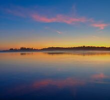 Long Beach Sunset by JamesA1