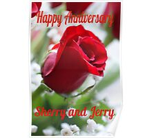 Happy Anniversary Jerry and Sherry Poster