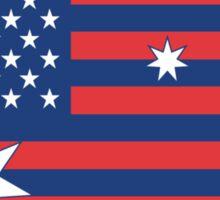 Ameristralia Flag (No Text) Sticker