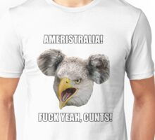 Ameristralia Mascot (With Text #2) Unisex T-Shirt