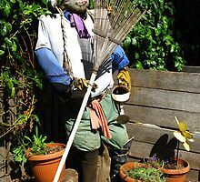 Garden Scarecrow - Churchill Island Historic Gardens by Marilyn Harris