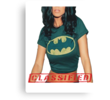 Classified - The Bat  Canvas Print