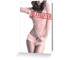Classified - Cloudy Cali Greeting Card
