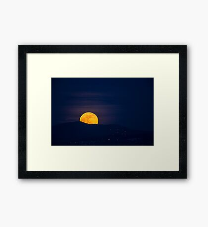 Moonrise over Tiger Mountain Framed Print