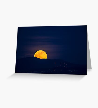 Moonrise over Tiger Mountain Greeting Card