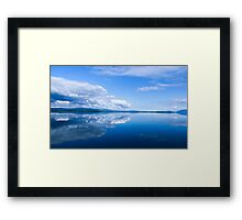 Blue Mirror Framed Print