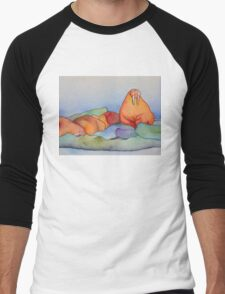 Warm Walrus Contemplating Cool Wishes Men's Baseball ¾ T-Shirt