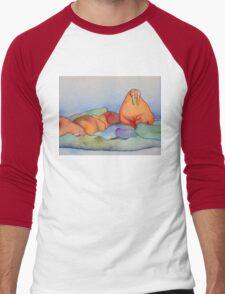 Warm Walrus Contemplating Cool Wishes Men's Baseball ¾ T-Shirt