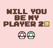 Will you be my player 2? Kids Tee