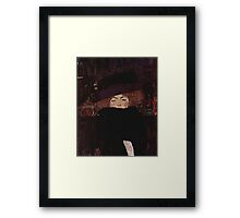 Klimt Lady with Hat and Feather Boa Framed Print