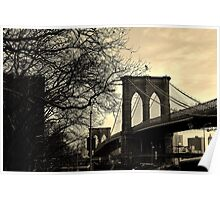 Brooklyn Bridge, New York City - by Kirsty Drummond Poster