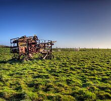 decaying farm machinery on Alderney by NeilAlderney
