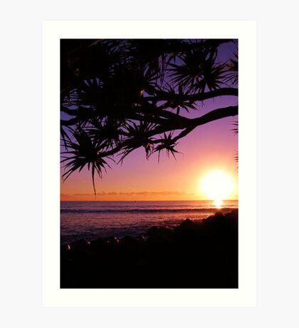 Burleigh Heads Purple Sunrise, Gold Coast, Australia - ANZAC Day 2013 Art Print