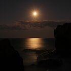 Full moon over the misty ocean - Burleigh Heads, Gold Coast, Australia by kdrummondphotos