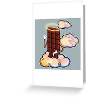 May Chocolate god bless you! Greeting Card