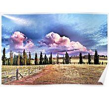 Stockinbingal Sunset Clouds Poster