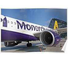 Air Bus A320 Monarch Gibraltar Poster