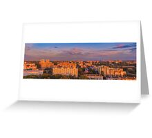 Minsk City Quarter With Green Parks Greeting Card