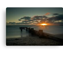 Sunset over mentone  Canvas Print