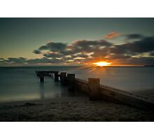 Sunset over mentone  Photographic Print