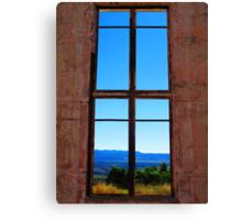 Mountains Through the Window Canvas Print