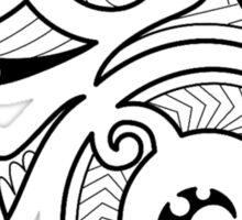 Maori Camouflaged Chameleon B/W  Sticker