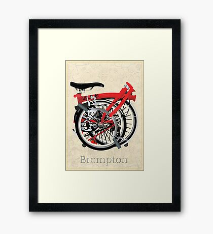 Brompton Bicycle Folded Framed Print