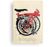 Brompton Bicycle Folded Metal Print