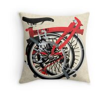 Brompton Bicycle Folded Throw Pillow