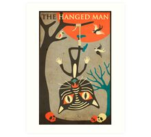 Tarot Card Cat: The Hanged Man Art Print
