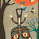 Tarot Card Cat: The Hanged Man by JazzberryBlue