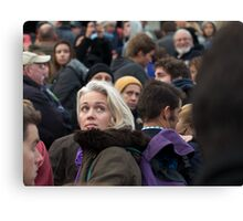 She was Just a Face in the Crowd Canvas Print