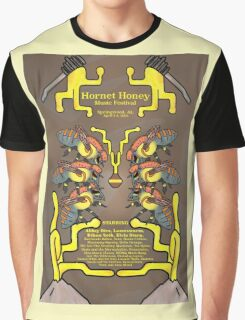 Hornet Honey Music Festival Poster Graphic T-Shirt