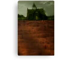 In bloody script with talon hands, 'tis writ Return to Sender Canvas Print