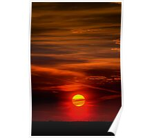The Sun Shining Over Low Cloud Poster
