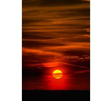 The Sun Shining Over Low Cloud Photographic Print