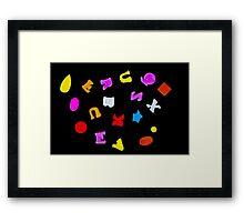 Letter on Black Framed Print