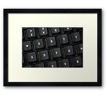 Used Keyboard Framed Print