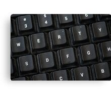 Used Keyboard Canvas Print