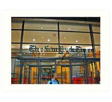 Security Guard, Entrance, New York Times Bldg, NYC Art Print